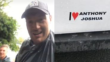Tyson Fury biegał w deszczu, mając na sobie worek na śmieci