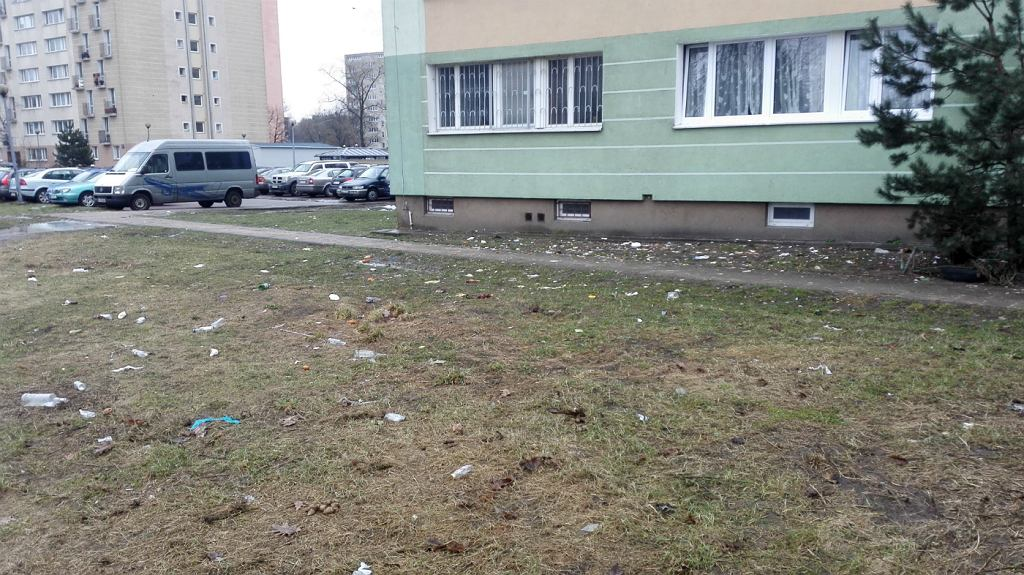 Śmieci na Bielanach