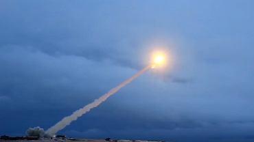 19.07.2018, testy nuklearnego pocisku manewrującego Burewestnik, stopklatka z filmu rosyjskiego Ministerstwa Obrony.
