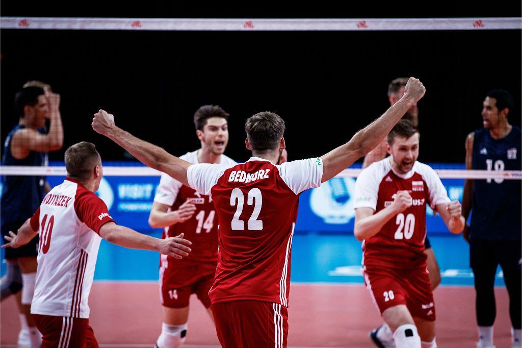 Liga Narodów: Polska - USA, siatkówka