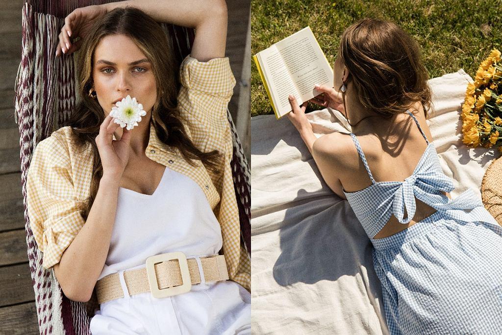 ubrania w kratę na lato