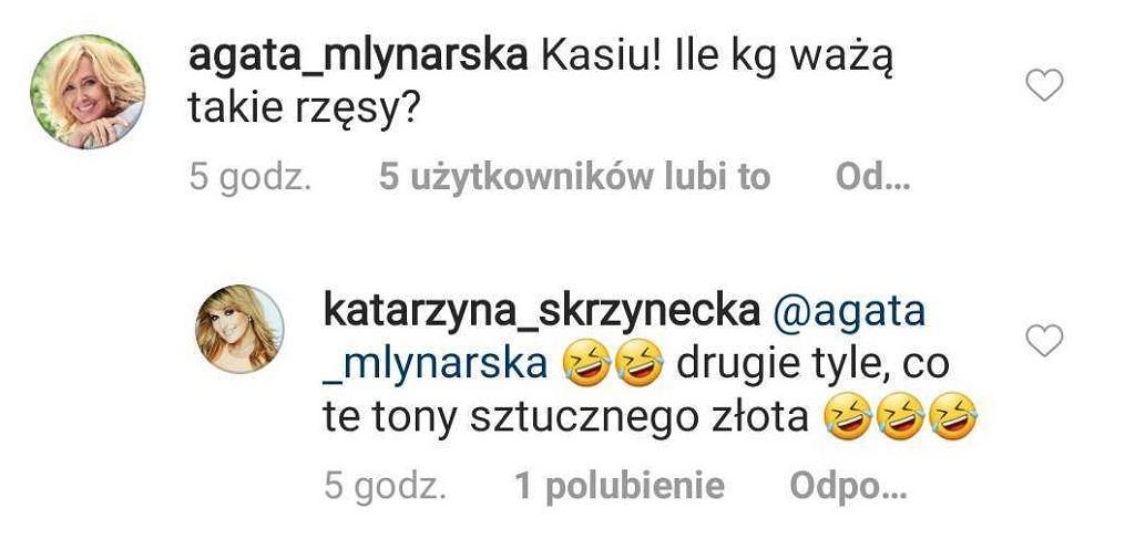 Komentarze na Instagramie Katarzyny Skrzyneckiej