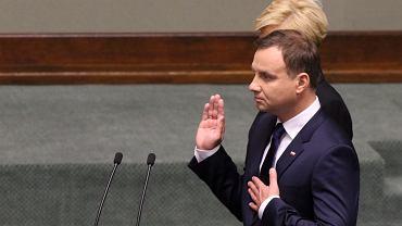 6.08.2015, Sejm, zaprzysiężenie Andrzeja Dudy na prezydenta