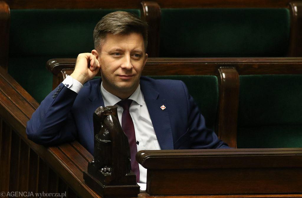 Michał Dworczyk podczas posiedzenia Sejmu