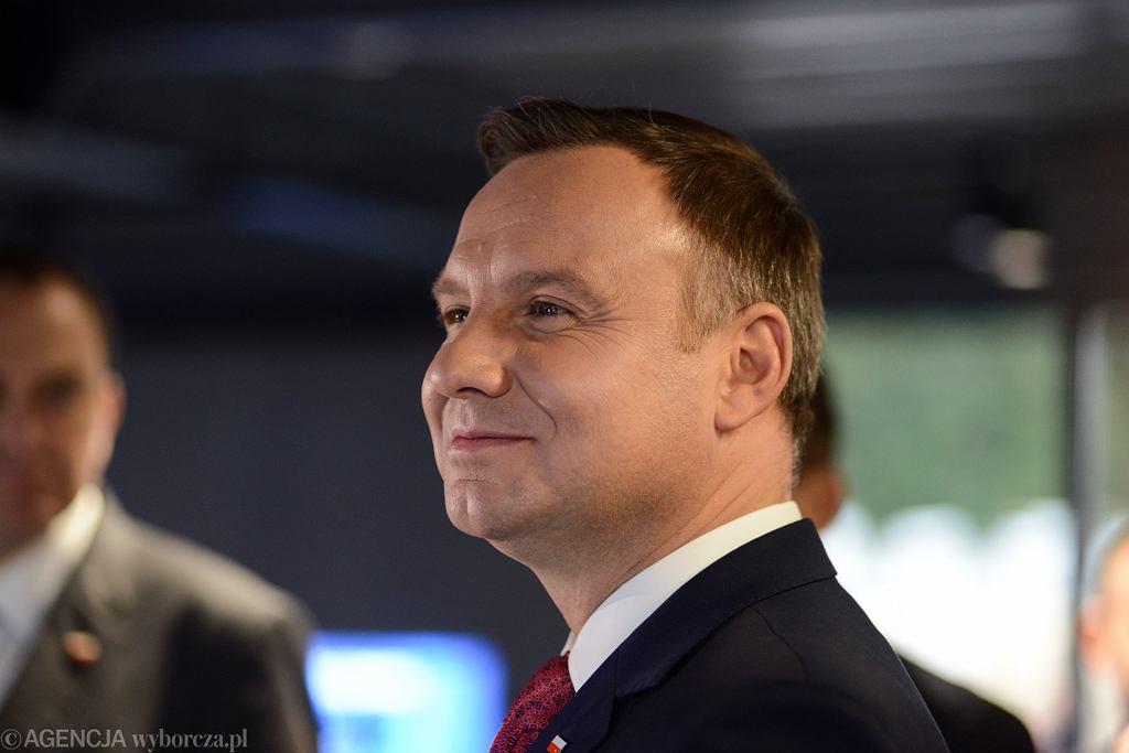 Para prezydencka na otwarciu pierwszej części Polskiej Wystawy Gospodarczej
