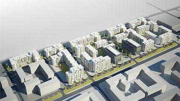 planowane osiedla firm Polnord i Dantex na gruntach grupy Waryński w rejonie ul. Jana Kazimierza, największego zagłębia mieszkaniowego Woli