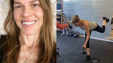 Hilary Swank pokazała trening z kettlebells