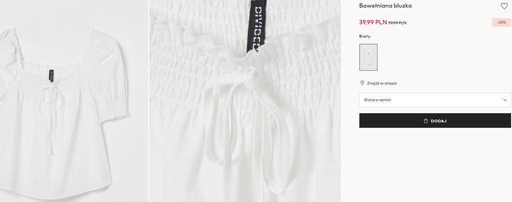 biała bluzka HM