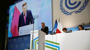 Andrzej Duda przemawia na inauguracji COP24 w Katowicach