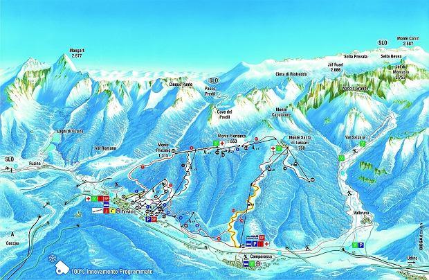 Mapa tras Tarvisio
