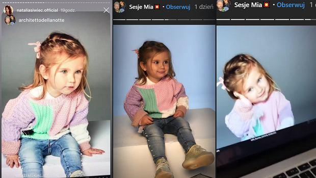 Córka Natalii Siwiec pozuje na sesji zdjęciowej