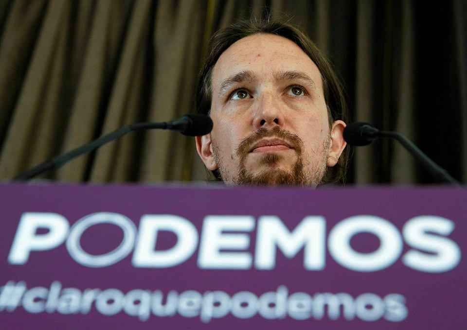 35-letni politolog Pablo Iglesias, założyciel Podemos. Kilka miesięcy po powstaniu partii zdobyła ona 8 proc. głosów w eurowyborach