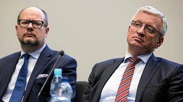 Prezydent Gdańska (po lewej) Paweł Adamowicz i prezydent Poznania (po prawej) Jacek Jaśkowiak