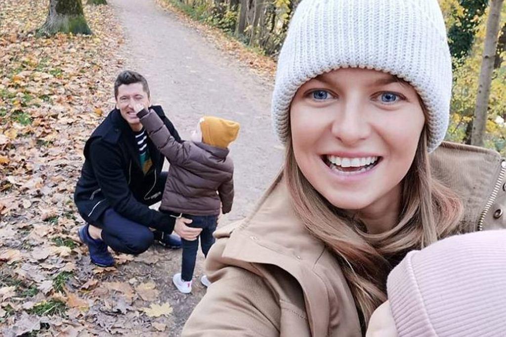 Anna Lewandowska z rodziną