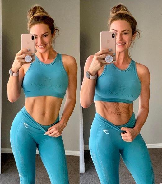 Blogerka pokazała jak wygląda jej brzuch po ciąży
