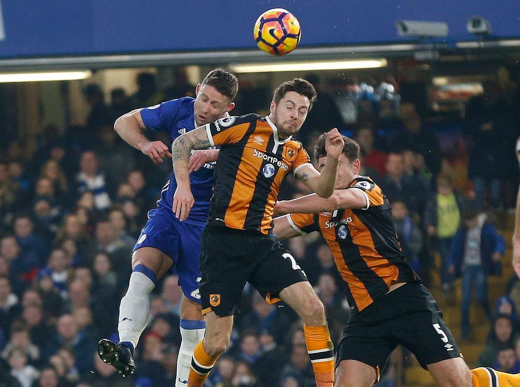 Kontuzja Ryana Masona w meczu ligi angielskiej pomiędzy Hull a Chelsea