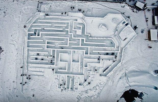 Największy Śnieżny Labirynt w Zakopanem