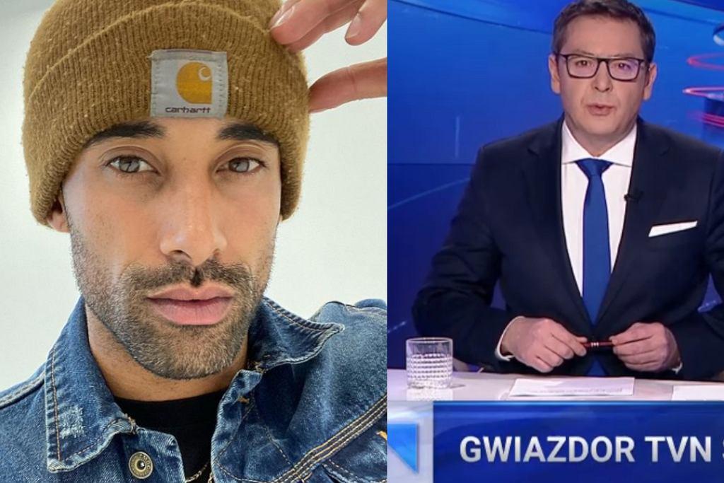 Fragment materiału 'Wiadomości' TVP o Dominicu D'Angelica.