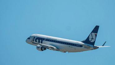 Avión de LOT Polish Airlines (ilustración)