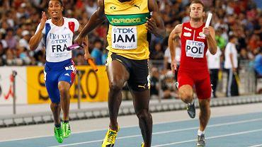 Bieg finałowy mistrzostw świata. Z prawej strony Kamil Kryński
