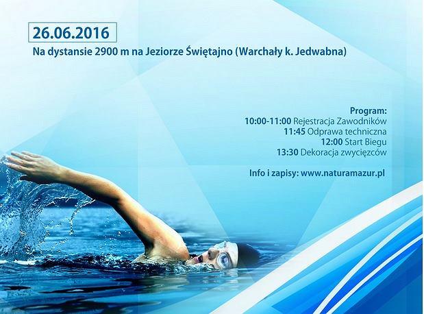 Plakat promujący zawody u Puchar Gminy Jedwabno