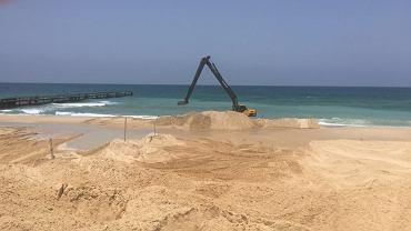 Budowa podwodnej bariery w Izraelu