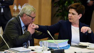 Jean-Claude Juncker i Beata Szydło