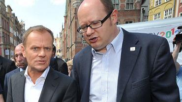 Donald Tusk i Paweł Adamowicz
