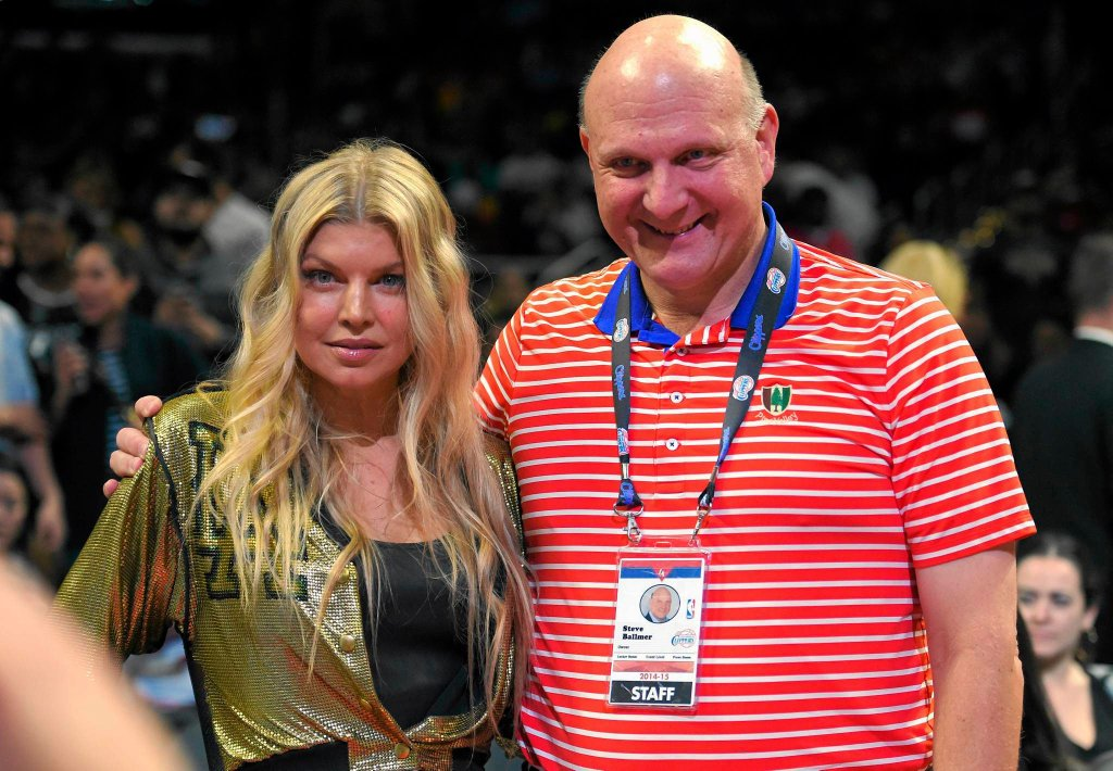 Piosenkarka Fergie i właściciel LA Clippers Steve Balmer