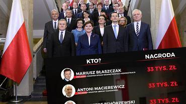 Nagrody dla rządu Beaty Szydło