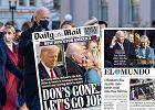 """Światowe media o inauguracji Joe Bidena. """"Czas na jedność"""", """"Żegnaj, Don!"""", """"Demokracja zwyciężyła"""""""