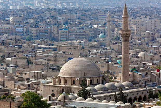 Syria. Panorama Aleppo przed wojną / shutterstock