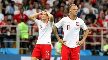 Kamil Grosicki w meczu Polska -Senegal. Mistrzostwa Świata w Rosji, Moskwa, stadion Spartaka, 19 czerwca 2018