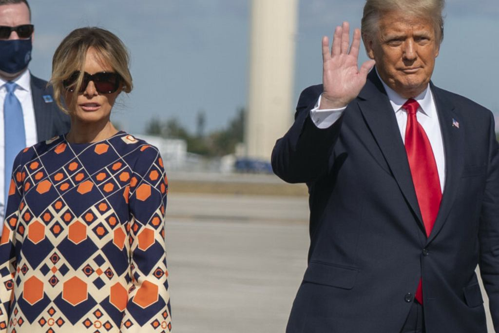 Niewzruszona Melania Trump ominęła reporterów