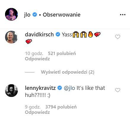 Jennifer Lopez - komentarze