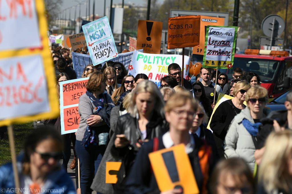 Marsz nauczycieli