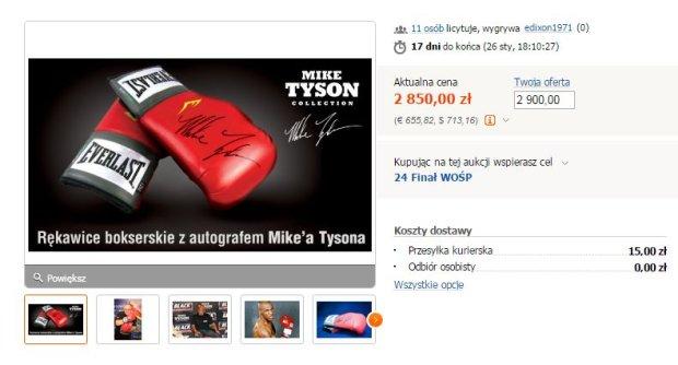 Rękawice Mike'a Tysona