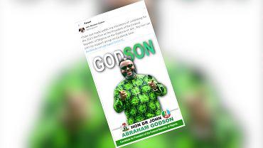John Godson chce zostać prezydentem Nigerii. W Polsce był posłem