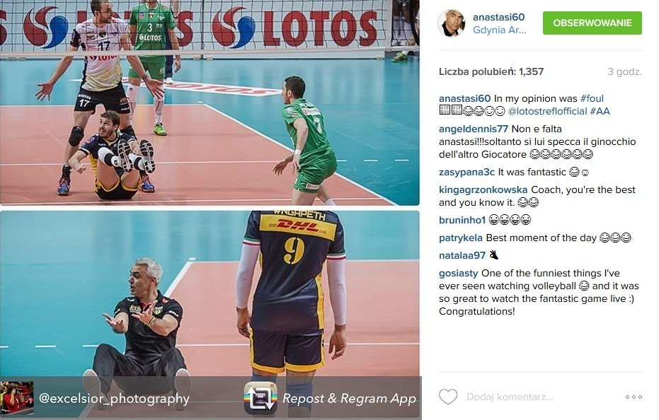 Andrea Anastasi na Instagramie