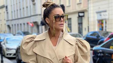 Małgorzata Rozenek w trenczu z H&M