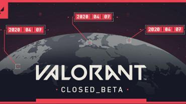 Screenshot infografiki o godzinie startu wersji beta gry VALORANT. Źródło: Twitter, 2020