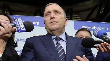 Przewodniczący PO Grzegorz Schetyna w Białymstoku