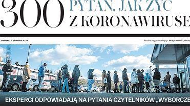 Jak żyć z koronawirusem - dodatek Gazety Wyborczej