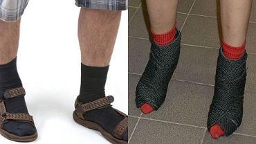 skarpetki do sandałów, buty gwiazd