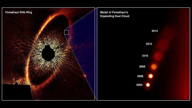 Symulacja widoku zaginionej planety z Ziemi