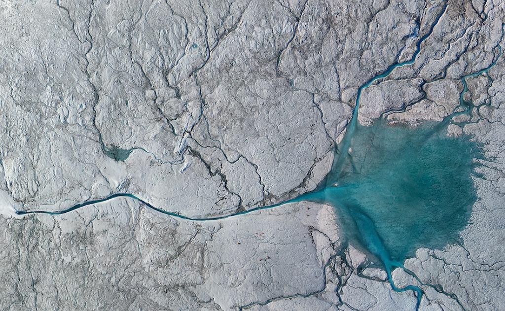 Grenlandia - zdjęcie widziane z kosmosu