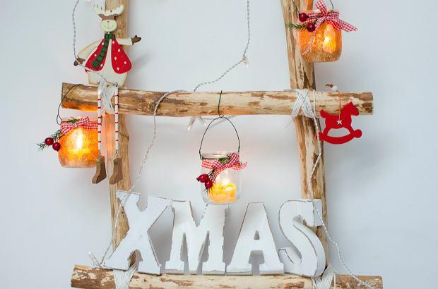 Świąteczny lampion ze słoików