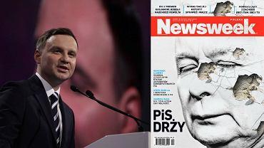 """Andrzej Duda i najnowsza okładka tygodnika """"Newsweek"""""""