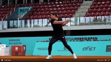 Carla Suarez Navarro podczas treningu w Madrycie