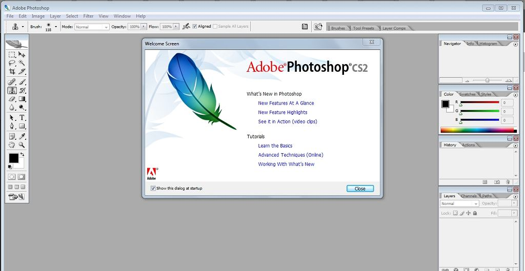 Photoshop CS2 na Windows 7? Działa!